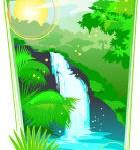 רחש מפל מים זורמים